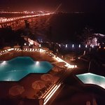 Pool and Beach Area - Night View