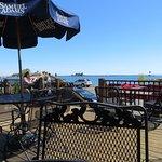 Deck overlooking harbor