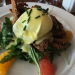 Soft Shell Crab w/ poached egg and holladaise.