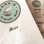 A Beer menu is always a good start.
