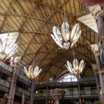 The lobby of the hotel, the chandeliers are Masai shields and spears, just magnificent!
