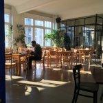 Breakfast room lobby open 24/7.