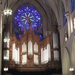 Stained glass and organ