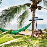 Nap in a hammock in the shade of the palms.
