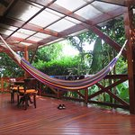 The hammock on our deck.