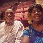 Me and hubby in our seats waiting!
