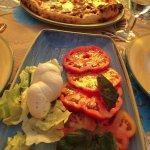 Caprese Salad with Mushroom Pizza
