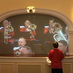 A video wall where one can select any number of Sousa marches to be played.