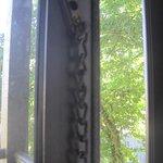 Chain on sliding doors to balcony