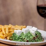 The Popeye Rump - Succulent Rump Covered In Our Famous Cream Spinach Topped With Feta