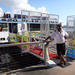 Our lovely skipper at the departure point in Surfers Paradise