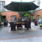 This is the patio which th hotel surrounds