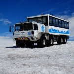 truck you mount at basecamp and take to the glacier