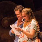 Matt Holzfeind and Erica Elam in the world premiere of THE ACTUARY by Steven Peterson