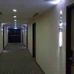 unusually wide corridor