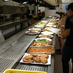 a few blocks into the night market is this cafeteria-style pick your own food eatery, cheap