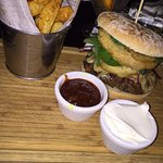 Amazing chips with a burger thats an absolute handful!