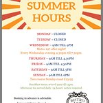 New opening hours July 2017