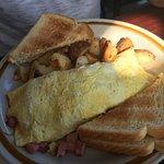 My husbands ham omelette