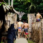 ritual before entering this tribe's longhouse