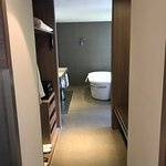Corridor to walk in closet and bathroom