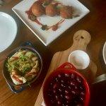 Share plates - olives, gyoza and arancini
