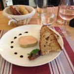 Delicious foie gras - simple and tasty.