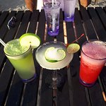 Apple Juice, Margarita and Watermelon Juice