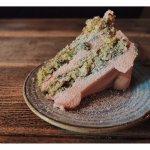 Raspberry + Pistachio Cake
