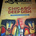 menu cover page Lou Malnati's Pizzeria