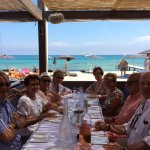 Déjeuner sur la plage ....au top !