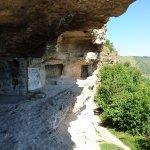 One of the monastic chambers of Tipova Cave Monastery