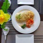 D'View Restaurant Adobo Omellette