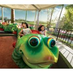 Jumping frog has the frogs leaping gently into the air, giving the children a fairy-tale ride.