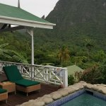 View from my plunge pool of the Piton