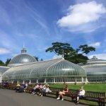 Kibble Palace on a sunny day
