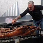 Succulent lamb on the spit done for private functions at the restaurant or at your home.