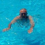 Enjoying the large pool