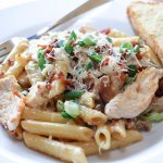 Chicken Penne Carbonara - one of our most popular pastas.