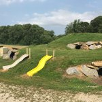 Slides and tunnels on Groundhog hill at Milburns