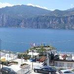 View from room balcony overlooking Lake Garda