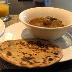 Buffet Breakfast - Aloo Paratha and Chicken Rendang