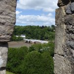 One of the many views from the castle - the old Wye bridge.
