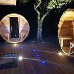 Sauna et hammam dans espace piscine