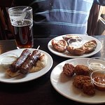 Cheese & Bacon Potato Skins,Southern Fried Chicken,Grilled Lamb Kebabs