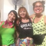 The hostel provided fun party clothes for us to dress up in for the 80's Night!