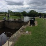 Naburn Lock - just a 5 minute stroll from the site.