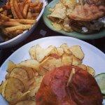 Truffle fries, Cuban sandwich and smoked brisket sandwich!