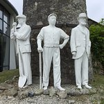 The entrance statues, although the other 2 (not in photo) had recently been stolen by some low l