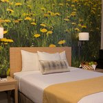 Queen Bed Room_Flowers Wall Picture_Adria Hotel & Conference Center_Bayside, New York